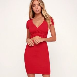 Dresses & Skirts - BY YOUR SIDE RED TWO-PIECE by LuLus